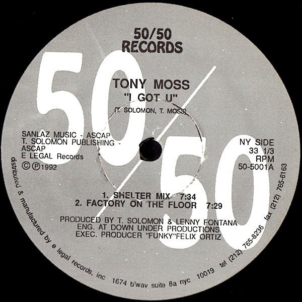Tony Moss - I Got U [RECORD STORE ROOM]